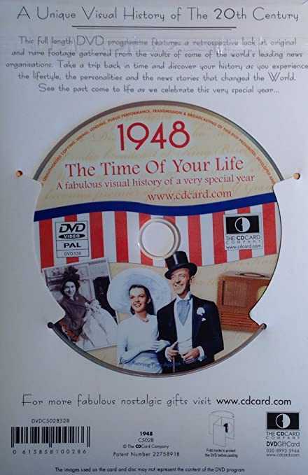 1948 Birthday Gifts - 1948 DVD Film and 1948 Birthday Card Package ...