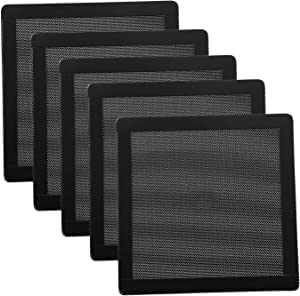 120mm Fan Dust Filter Mesh 4.72inch Magnetic Frame PVC PC Computer Case Fan Dust Mesh Cover Grills Black 5-Pack