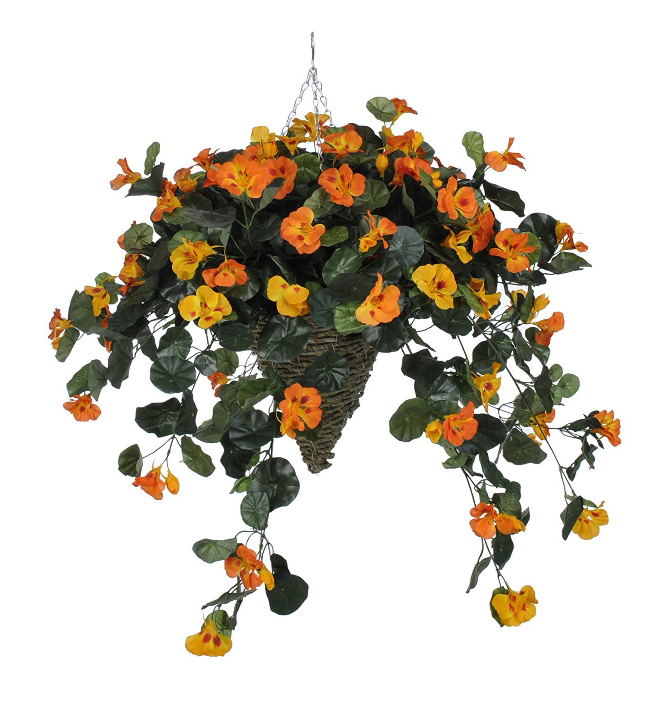 Amazon House Of Silk Flowers Artificial Orange Nasturtium In