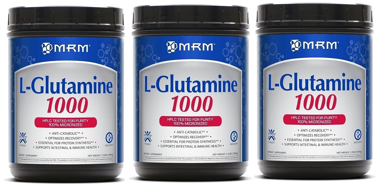 MRM L -グルタミン1000g 2.2ポンド(1000 G) 海外直送品 (3個セット) B000WSQGJ4