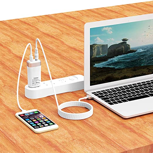 45W Mini Charger for MacBook Air 11 inch 13 inch Magnetic 2 T-tip MAC Power Charger Adapter - Lightweight & Portable - One Extra USB Port Design
