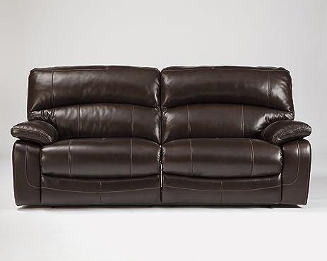 Ashley Furniture Signature Design - Damacio Recliner Sofa - Power Reclining - Dark Brown & Amazon.com: Ashley Furniture Signature Design - Damacio Recliner ... islam-shia.org