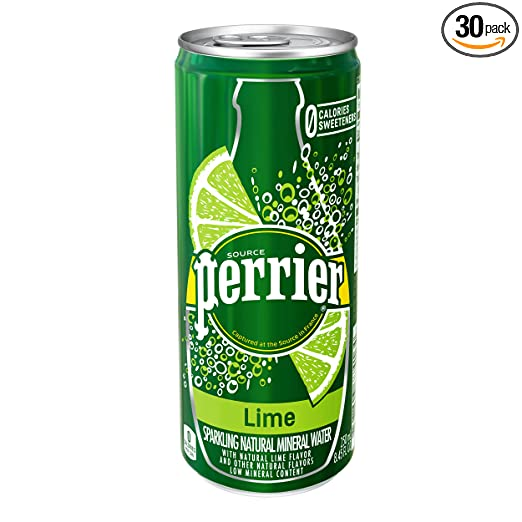 30-Pack Perrier Lime Flavored Sparkling Mineral Water