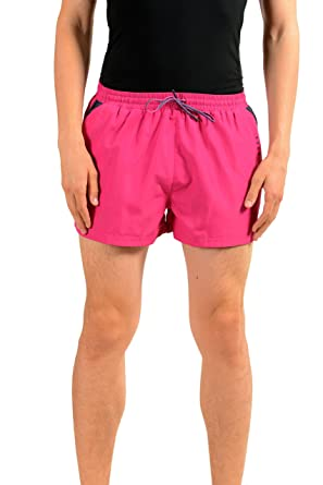 "8854cc9f08cf9 Image Unavailable. Image not available for. Color: Hugo Boss ""Mooneye  Men's Pink Swim Board Shorts US M IT 50"