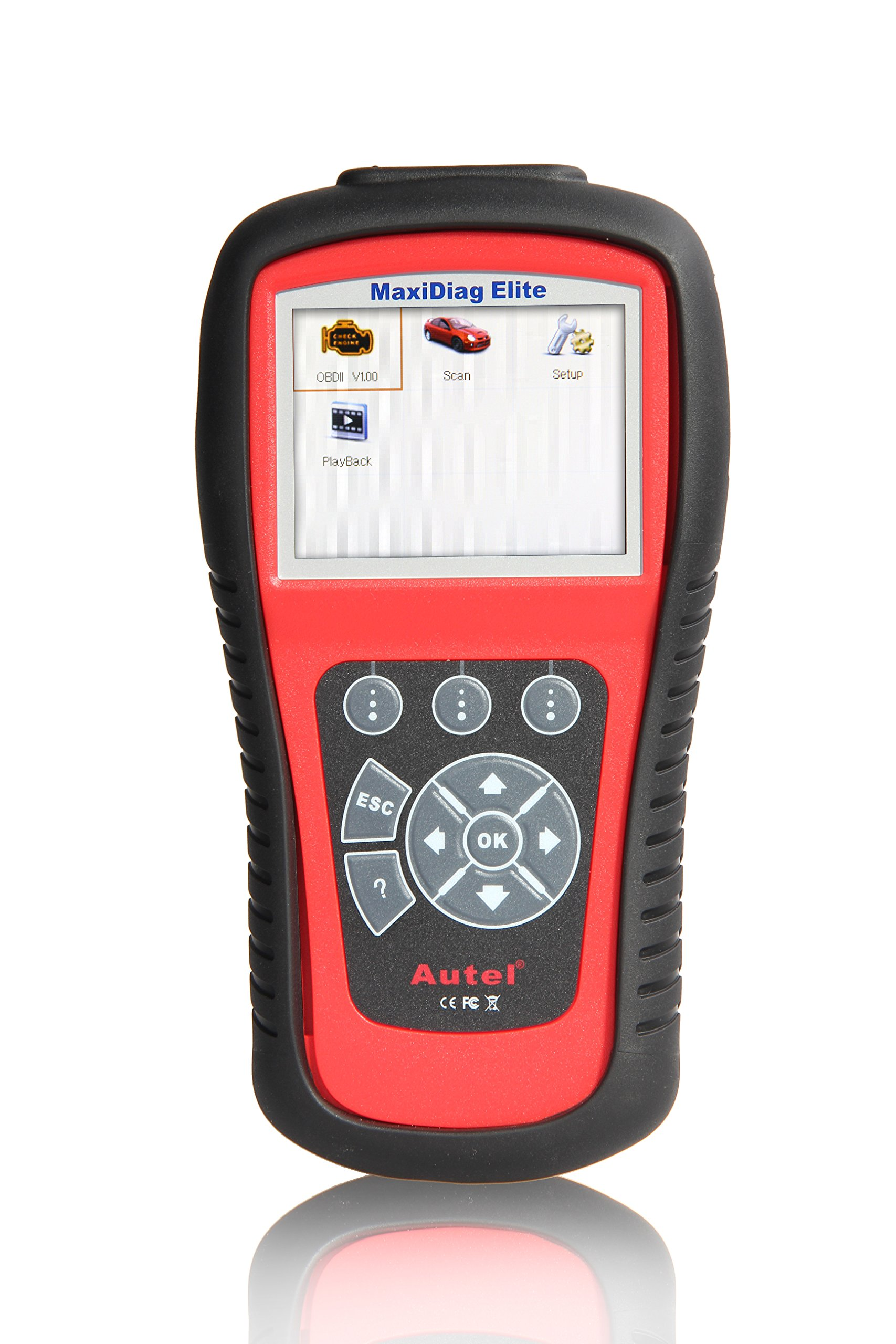 Autel MaxiDiag Elite MD802 OBD2 Scan Tool Car Diagnostic Scanner with All Systems Diagnoses OBD2 Full Functions and Reset Services including Oil Reset and EPB Reset for DIYers
