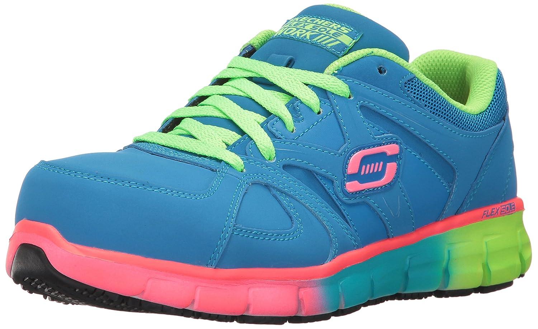 Skechers Women's Synergy-Sandlot Work Boot B06XQX2HT3 10 B(M) US|Blue/Multi