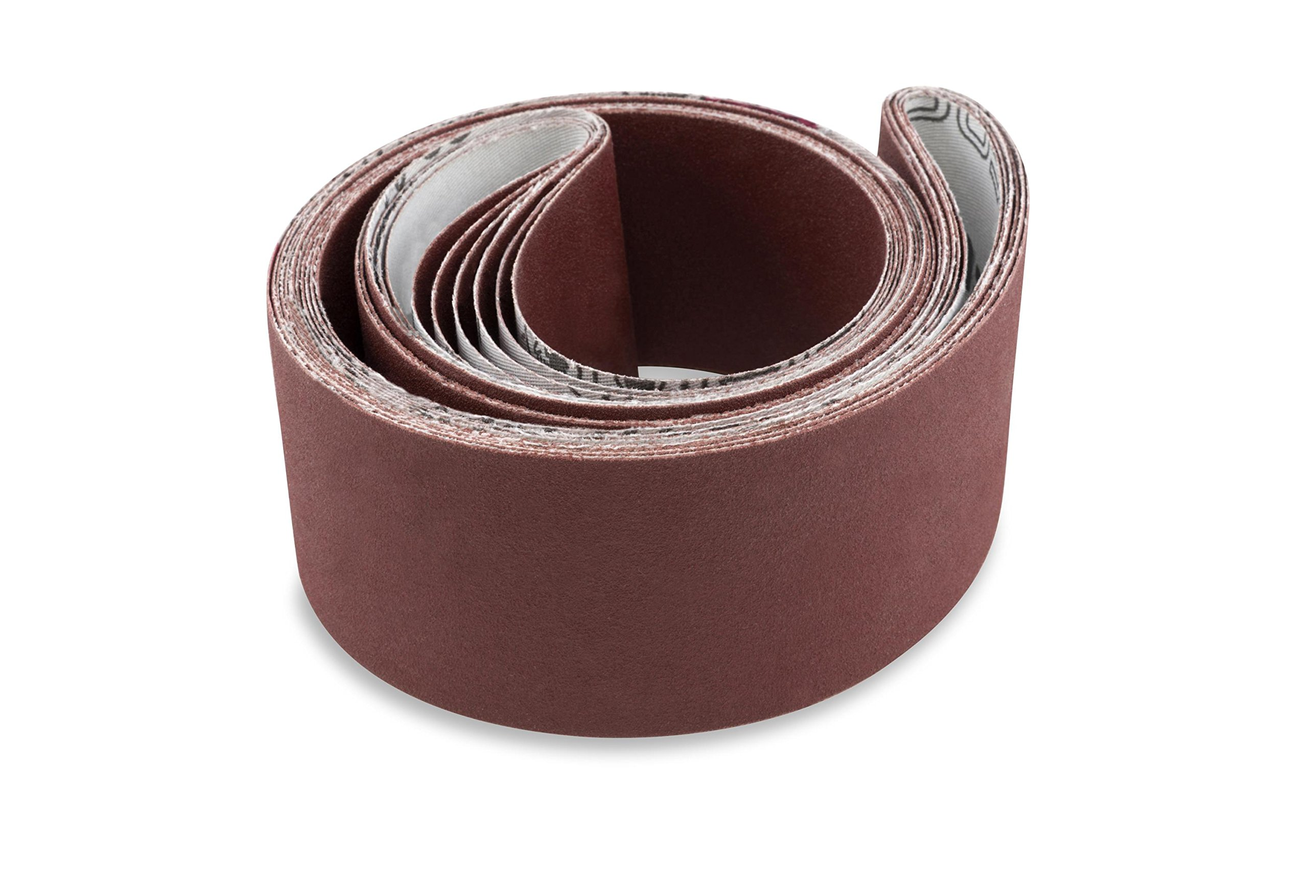 2 X 48 Inch 400 Grit Flexible Aluminum Oxide Multipurpose Sanding Belts, 6 Pack by Red Label Abrasives