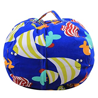 DMMASH Peluche Animale Stoccaggio Bean Bag Sedia Portatile Bambini Vestiti Sacchetti Stampati Sacchetti Giocattolo,26Inch