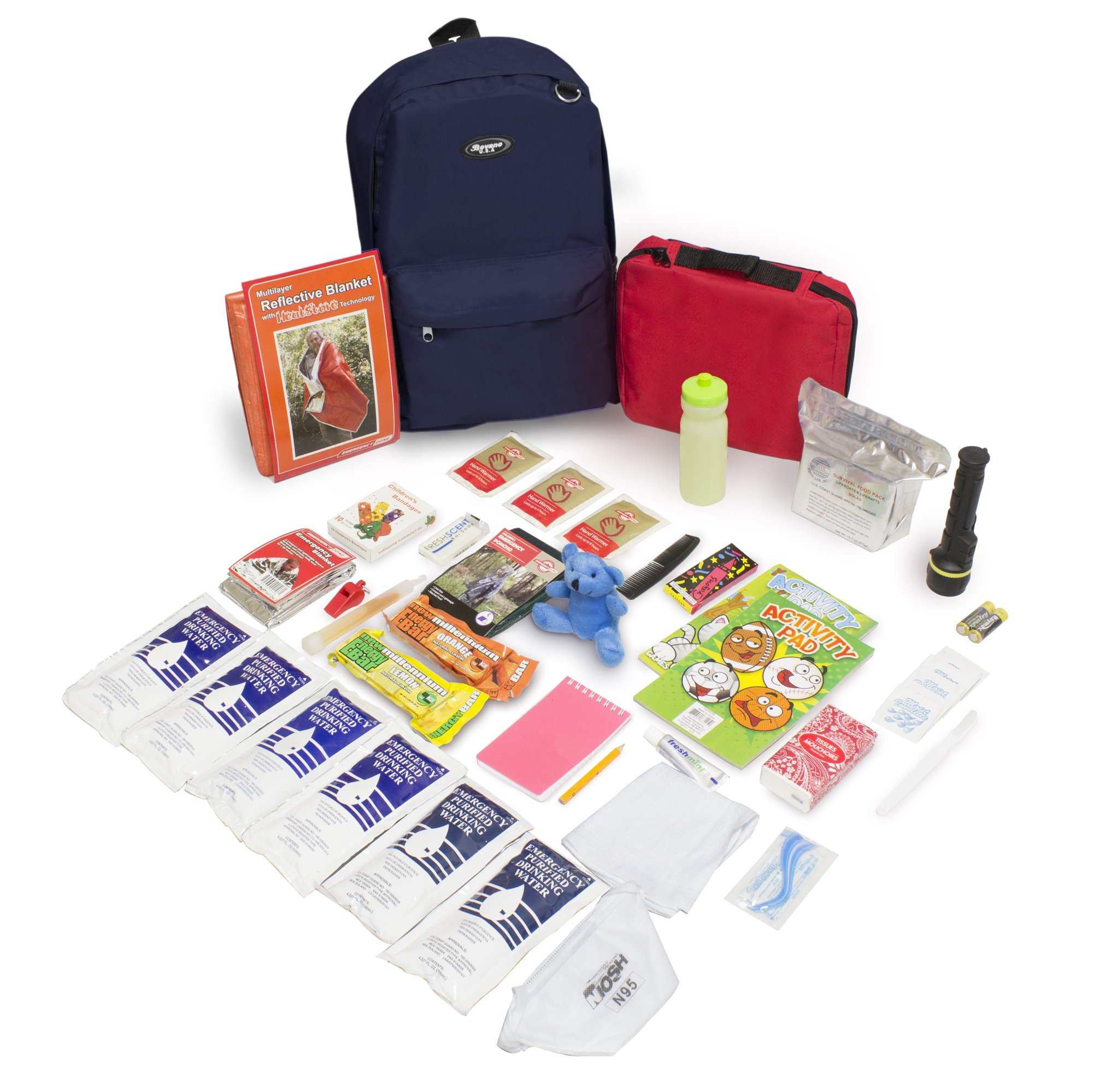 Keep-Me-Safe Children's Deluxe 72-Hr Emergency Survival Kit, Navy by Emergency Zone