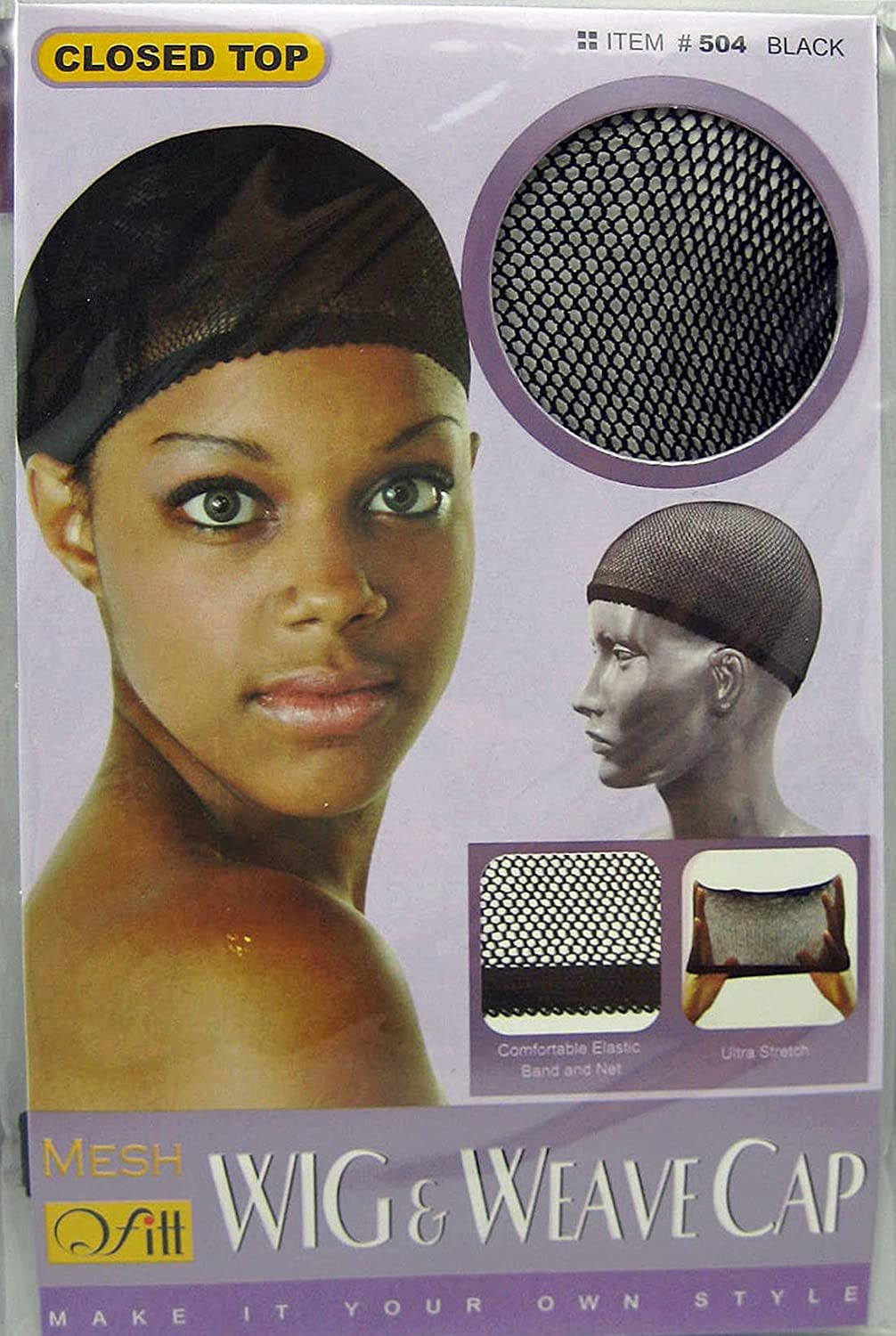 Amazon Stretchy Elastic Hair Net Snood Wig Weave Cap Mesh 1