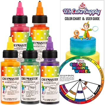 Amazon.com : Chefmaster by US Cake Supply 2.3-Ounce Neon Airbrush ...