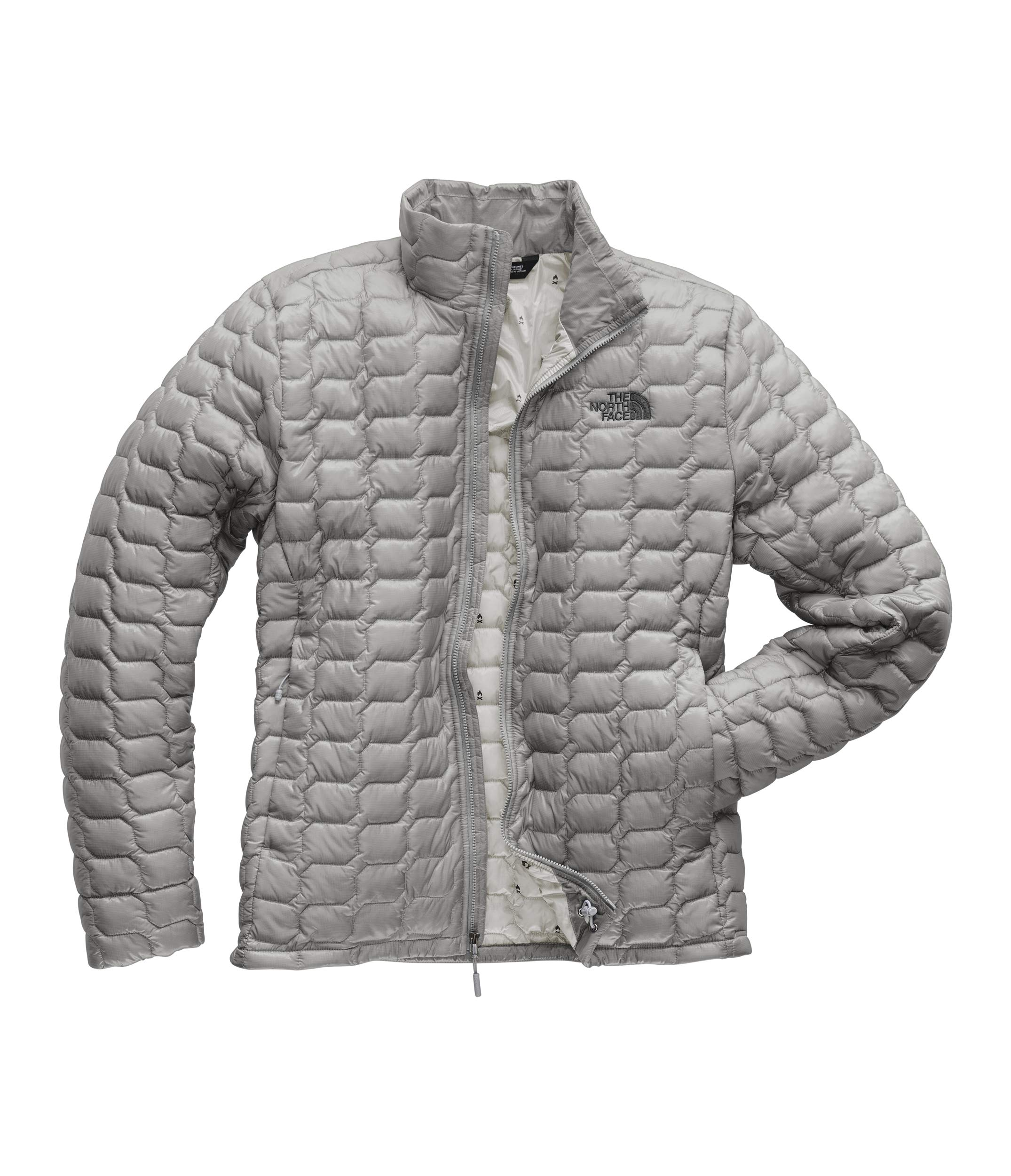 The North Face Men's Thermoball Jacket, Mid Grey/High Rise Grey Campfire Print, Small