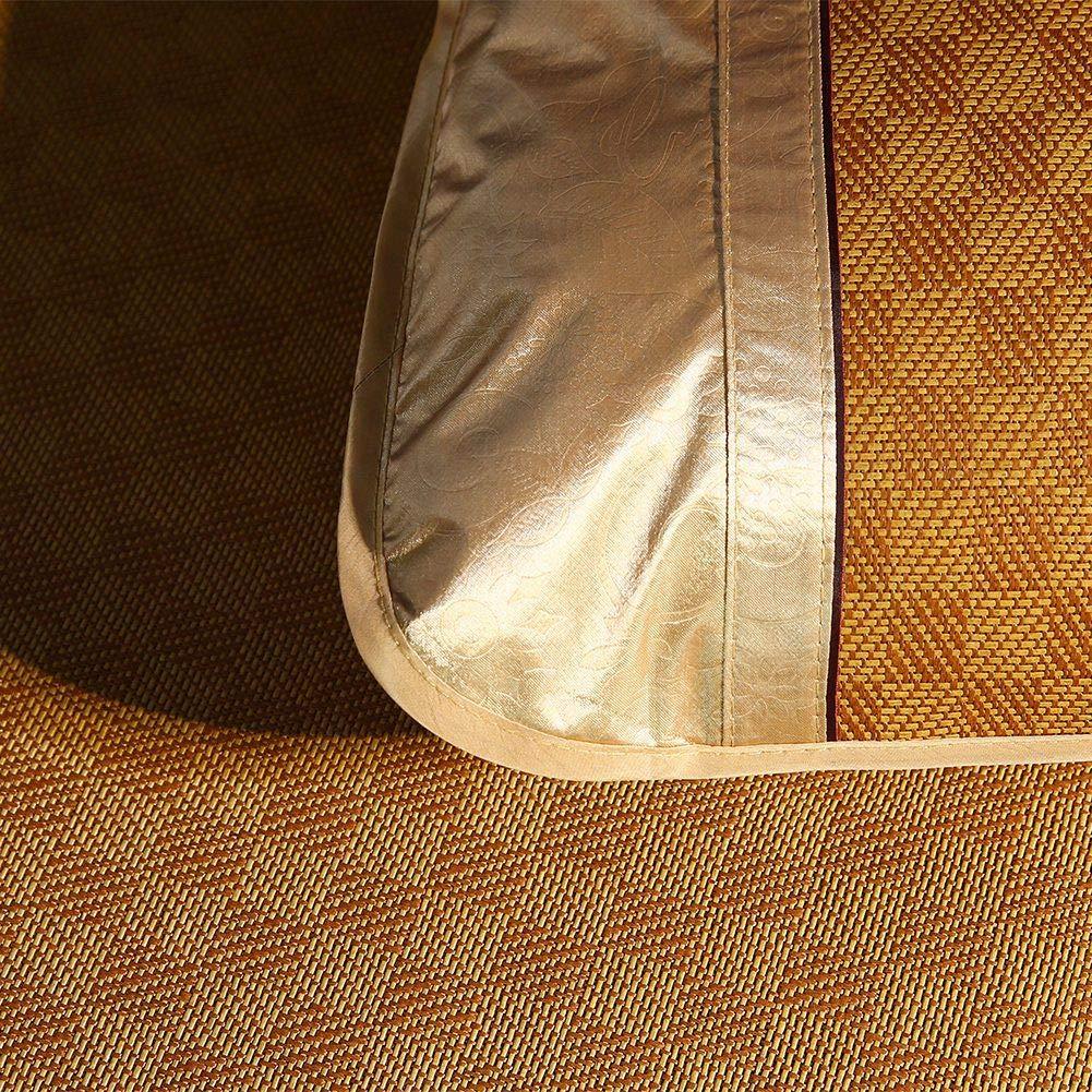 48 * 74CM Wifehelper Textiles para el hogar Estera de Rat/án Pr/áctica C/ómoda Hoja de Cama de Bamb/ú Rejilla S/ábana Ajustada Juego Summer Cool Cubierta de Cama Sala de Estar Dormitorio Uso