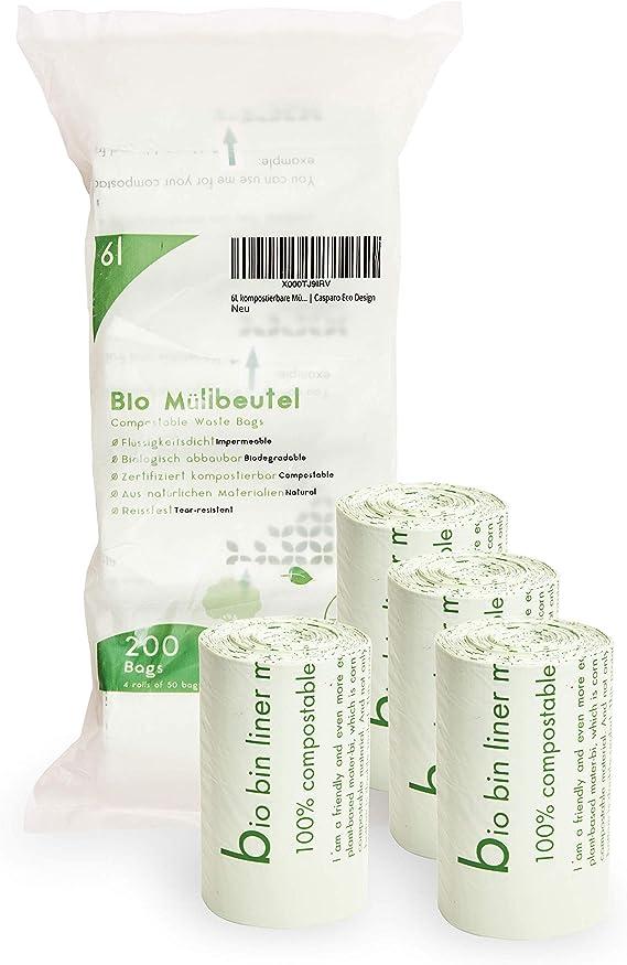Plantvibes® Bolsas de Basura compostables 100 Bolsas de Basura ...