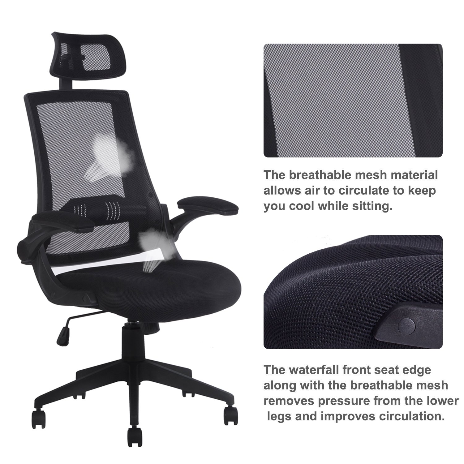 Amazon LCH High Back Mesh fice Chair Multifunctional