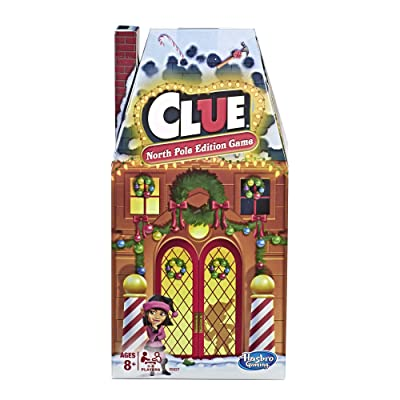 Hasbro Gaming Clue: North Pole Holiday Edition Board Game for Kids Ages 8+: Toys & Games
