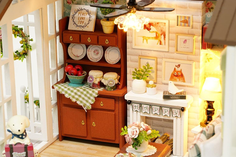 DIY Holz Puppenhaus Handwerk Miniatur Kit Wohnzimmer Modell U0026 Möbel Zeigen  Fotos U0026 Englisch Unterricht LEMOGO