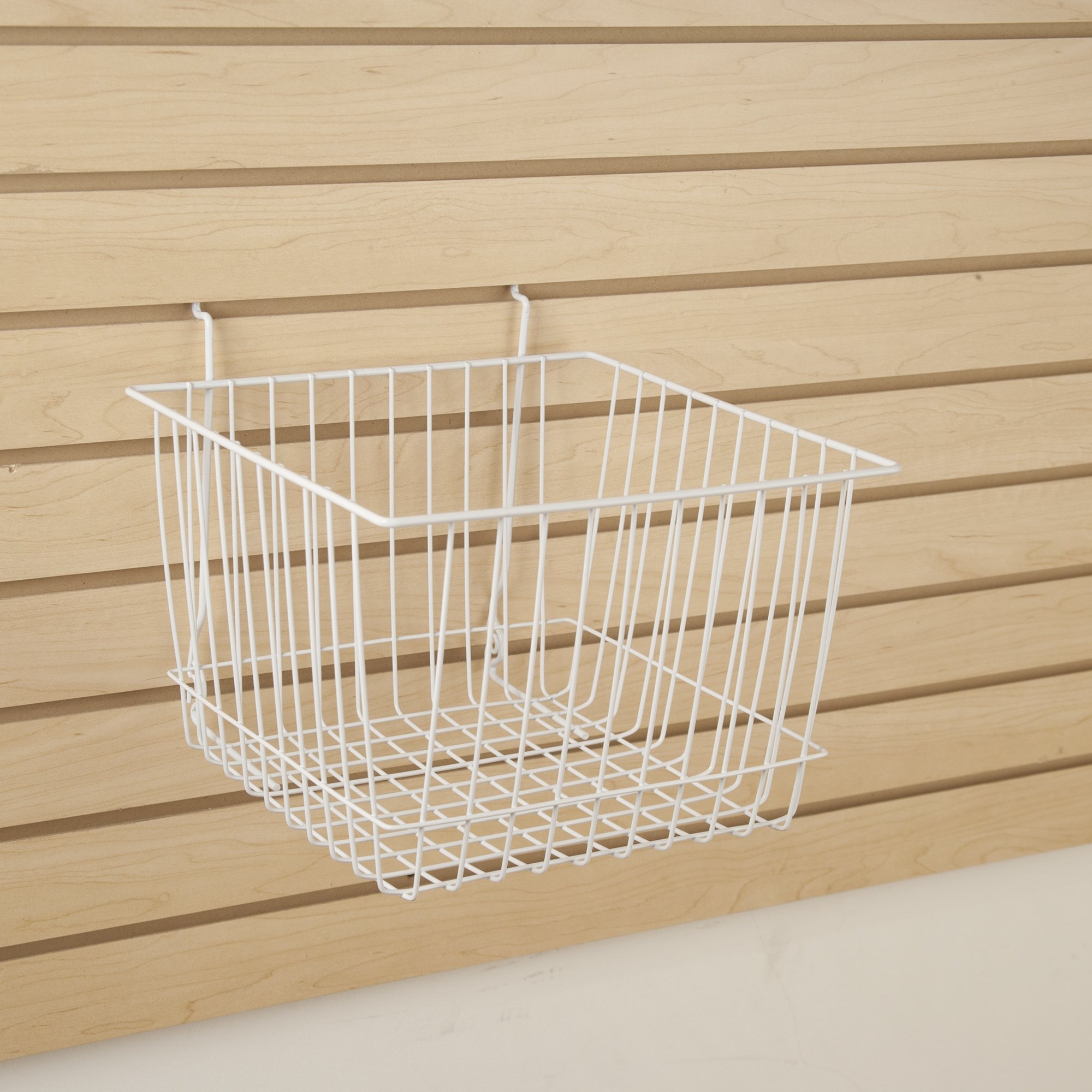 Wire Basket for Slatwall, Gridwall or Pegboard -Box of 6 - 12''W x 12''D x 8''H Deep Basket by Unknown (Image #2)