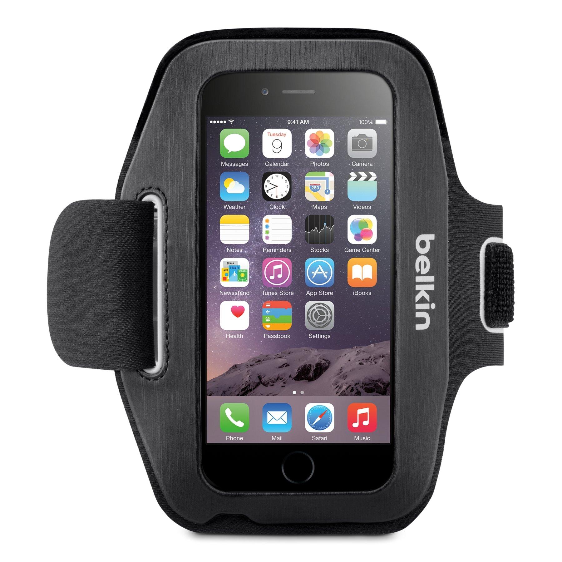 Belkin Sport-Fit Armband for iPhone 6 / 6S (Black/Overcast) by Belkin