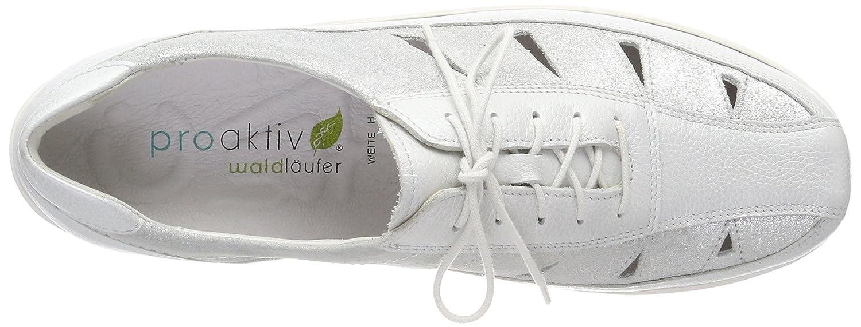 Waldläufer Henni 496023 (Pigalle Ama983 553 Damen Schnürhalbschuhe Silber (Pigalle 496023 Glitter Silber) 32612c