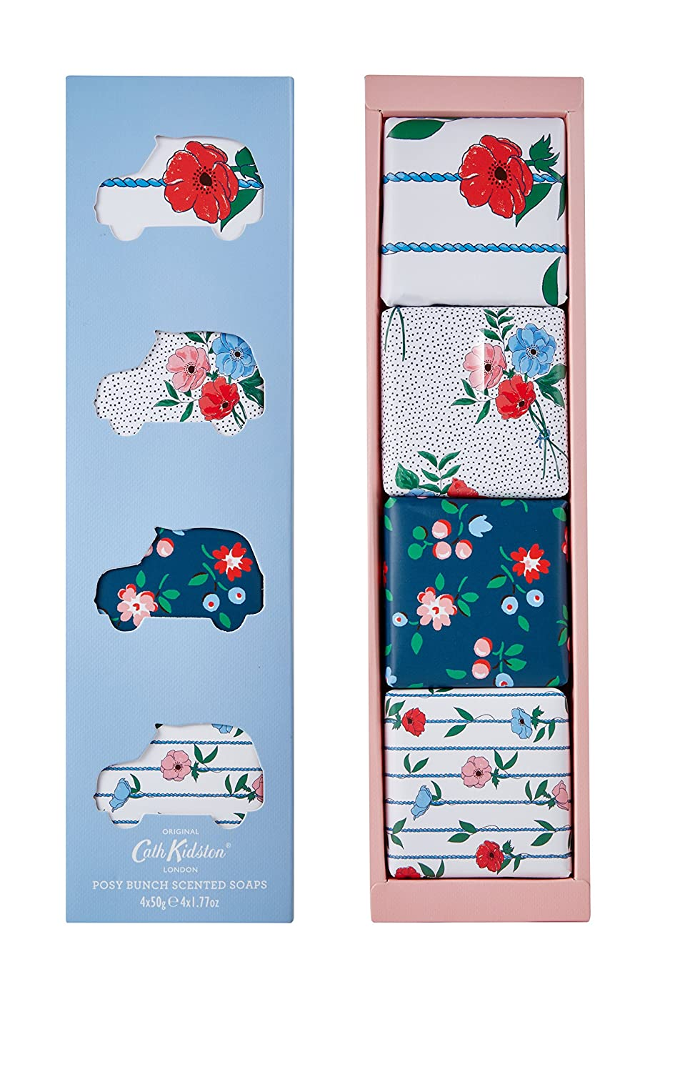 Cath Kidston Posy Bunch Scented Soaps, 50 g, Pack of 4 Heathcote & Ivory FG8905