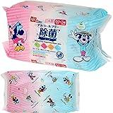 ミッキー & ミニー ノンアルコール 除菌 ウェットシート 60枚入×3個 (日本製) パラベンフリー