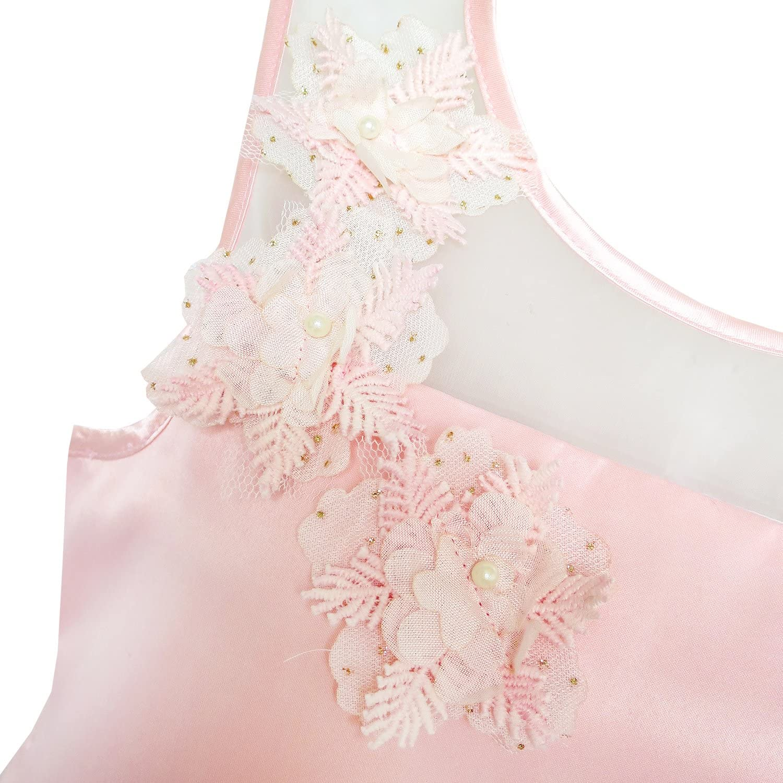 Sunny Fashion Flower Girls Dress Lace Hem Wedding First Communion Age 6-14 Years