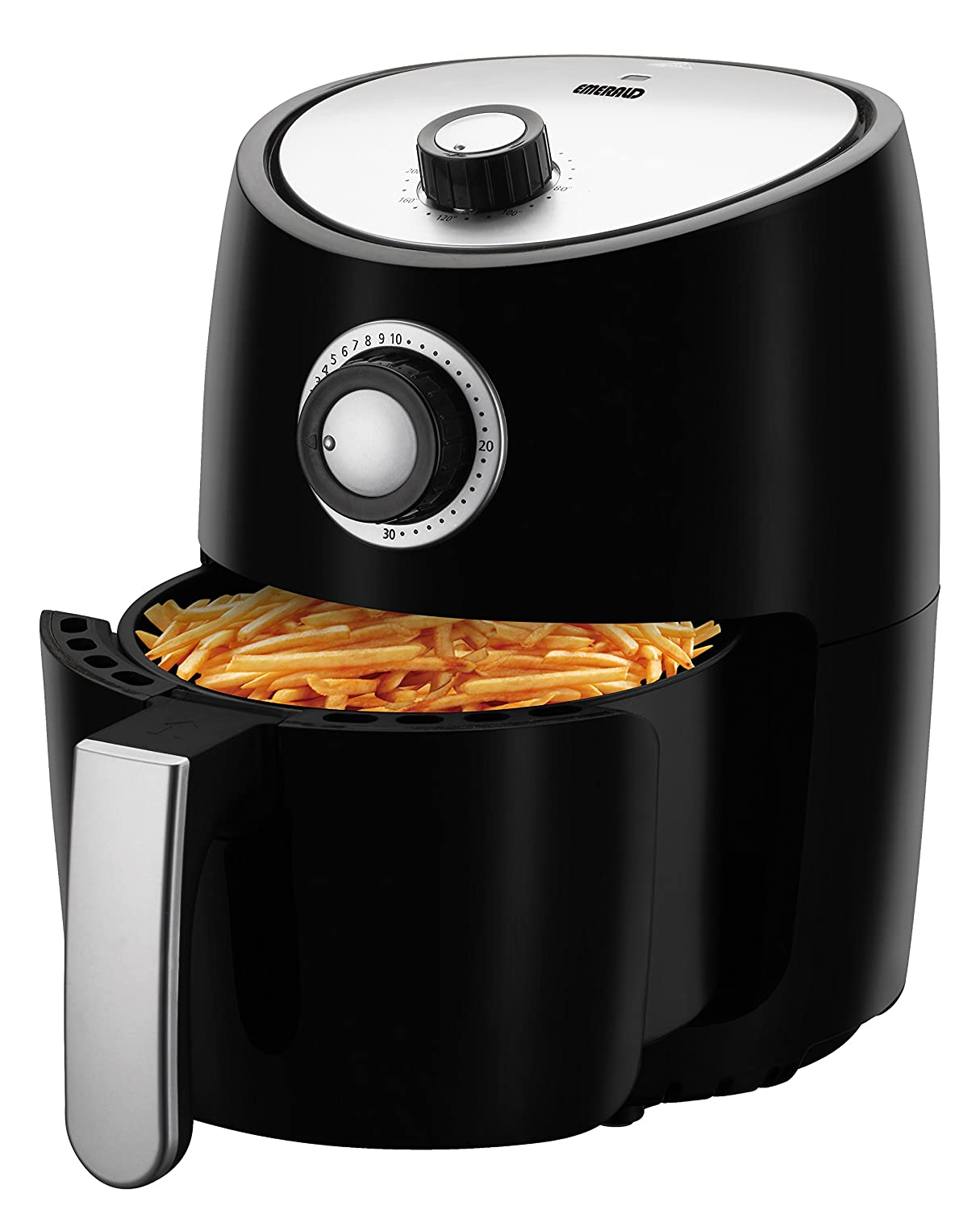 Emerald Compact 2 Liter Capacity Air Fryer and Recipe Book, 1000 Watts (1800)