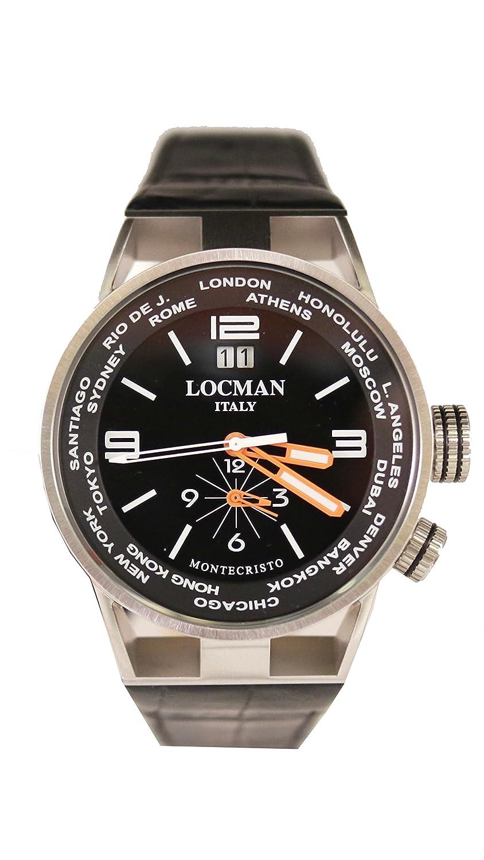 [ロックマン]LOCMAN 腕時計 MONTECRISTO WORLD 0508A01S-00BKWHPK メンズ 【正規輸入品】 B077D3XBQW