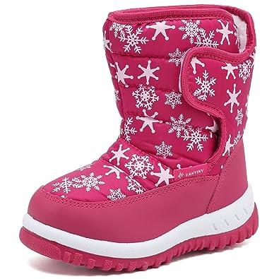 9e34bde6060ea  FANTINY  スノーブーツ 女の子 男の子キッズ ジュニア ブーツ 防水 保暖 冬用ブーツ 雪