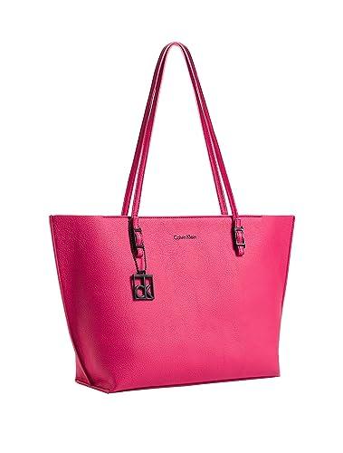 ab050266b157 Amazon.com: Calvin Klein Womens Hailey Shopper Tote Bag Sangria: Shoes