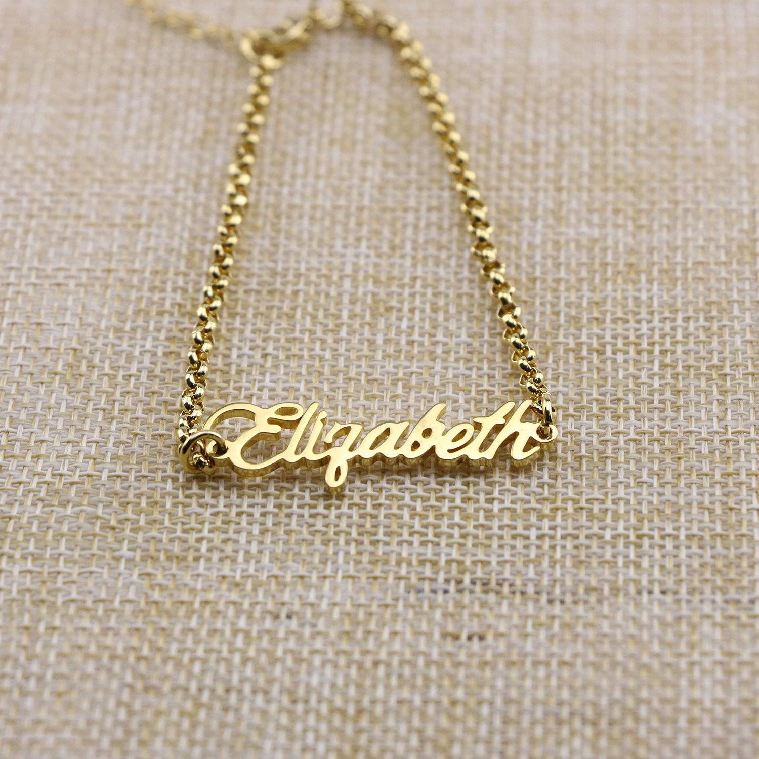 f4acac565 ... Yiyang Personalized Name Bracelet 18k Gold Initial Custom Girls Women Stainless  Steel Chain Jewelry ...