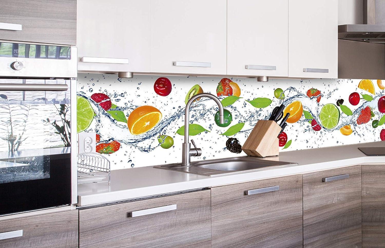 DIMEX LINE K/üchenr/ückwand Folie selbstklebend Obst Premium QUALIT/ÄT Spritzschutz f/ür K/üche Dekofolie Klebefolie Made in EU 180 x 60 cm