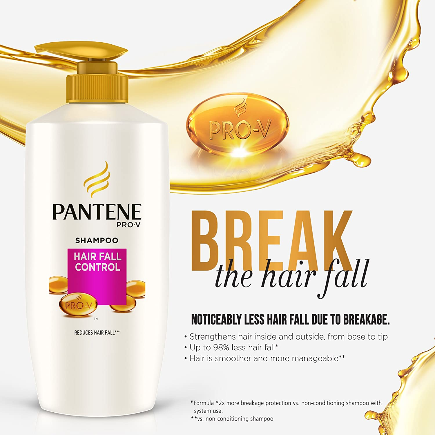 Buy Pantene Hairfall Control Shampoo 675ml Online At Low Prices In Sampo Total Damage Care 480ml India