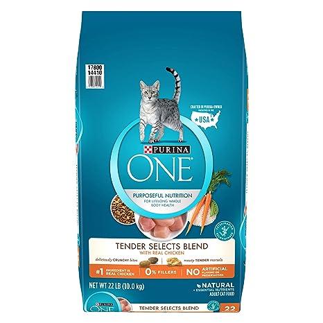 Purina Uno Tender selecciona Mezcla con Real Pollo seco Cat Food