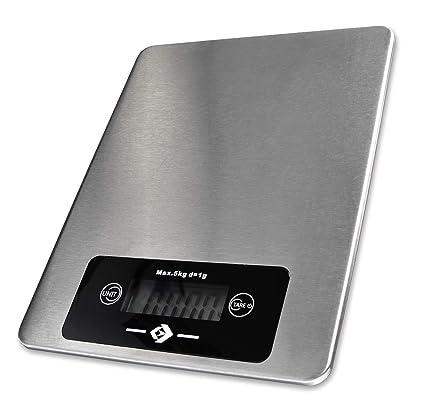 Volantis Volaweight One - Báscula Digital de Cocina con Superficie de Acero Inoxidable