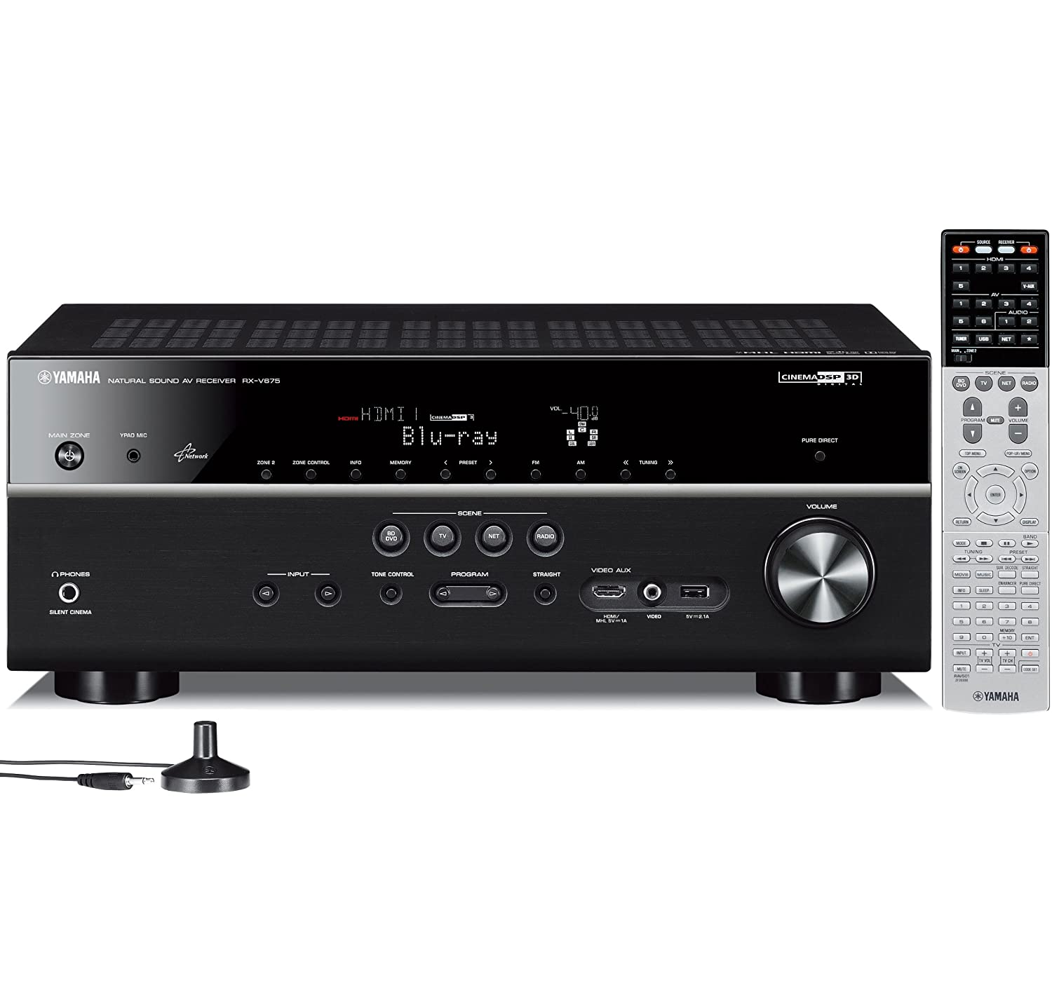 Yamaha RX-V675 7 2 Channel Network AV Receiver with Airplay (Discontinued  by Manufacturer)