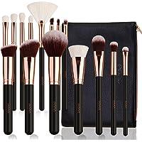 Eono by Amazon - Set de Brochas de Maquillaje Profesional 15 Piezas Pinceles de Maquillaje Set Premium Cosméticos Kit de…