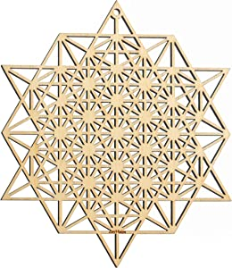 "ZenVizion 5.31"" Sacred Geometry Soul Reminders Wall Art Home Decor Hanging (64 Star Tetrahedron)"