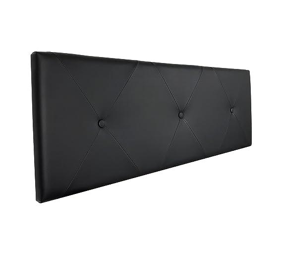 SERMAHOME- Cabecero Toledo tapizado Polipiel Color Negro. Medidas: 110 x 55 x 7 cm (Camas 80, 90 y 105 cm).: Amazon.es: Hogar