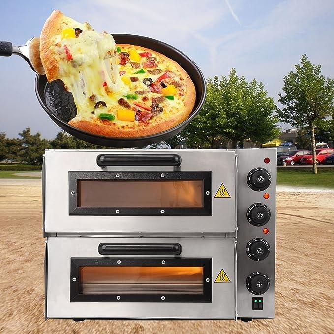 iglobalbuy eléctrico 3000 W 16 Double Deck pizzöfen Convection Pizza de fabricante de máquina Snack Baker accesorio para profesionales de y Home Cocina: ...