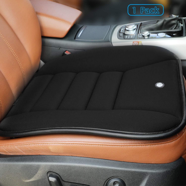 RaoRanDang Car Seat Cushion Pad for Car Driver Seat Office chair Home Use Memory Foam Seat Cushion Black