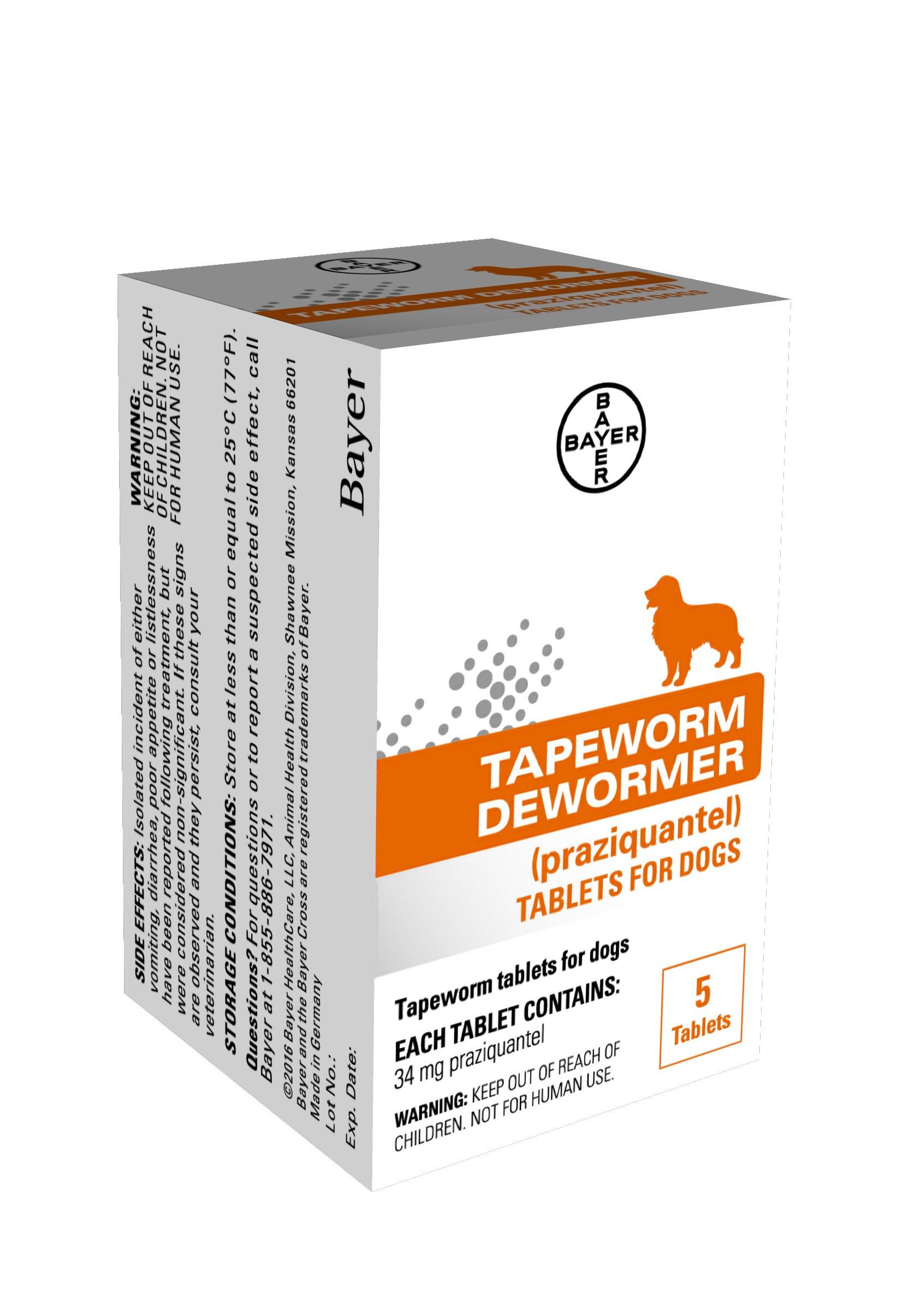 Bayer Tapeworm Dewormer for Dogs, 4 weeks and older