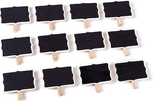 4 X Clip en las etiquetas pizarra signos Boda Comida Decoración Fiesta Etiqueta de Precio