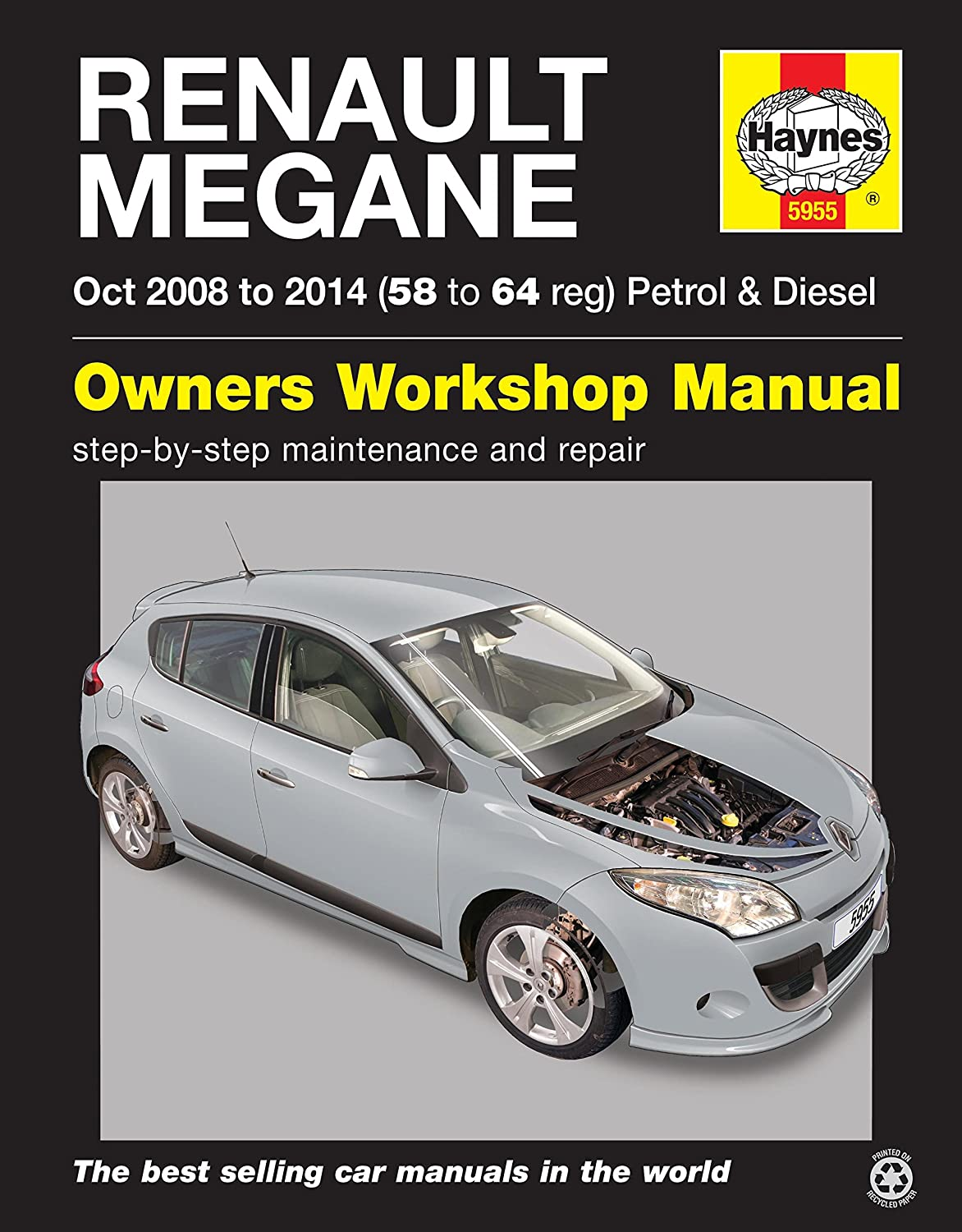 Renault Megane Repair Manual Haynes Manual Service Manual Workshop Manual  2008-2014: Amazon.