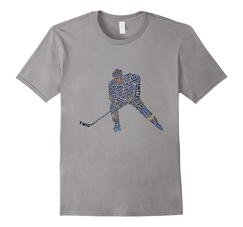 Big Boys' Hockey Player Typography Design Youth T-shirt-TH