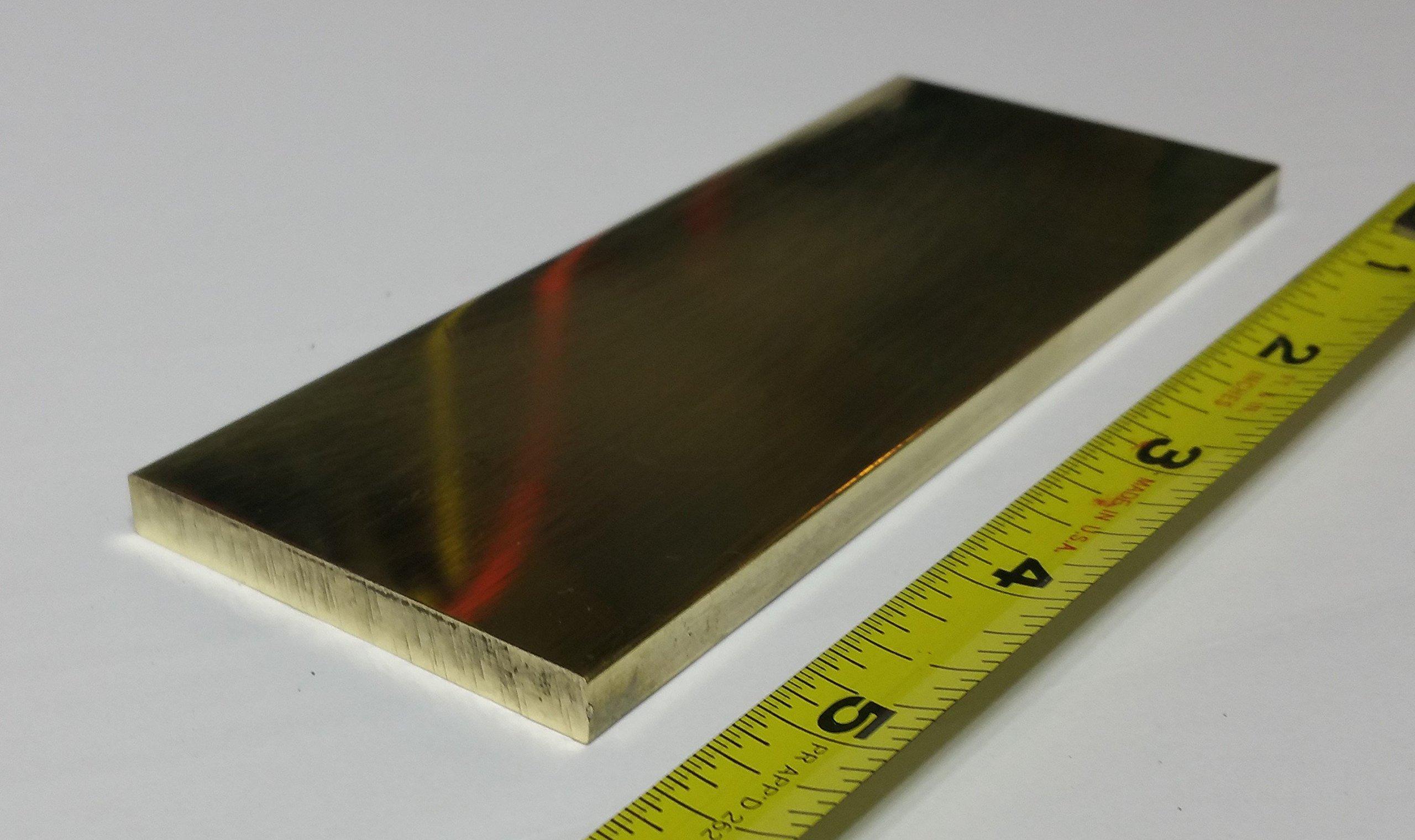 1/4 x 2'' x 5'' Brass Flat Plate.