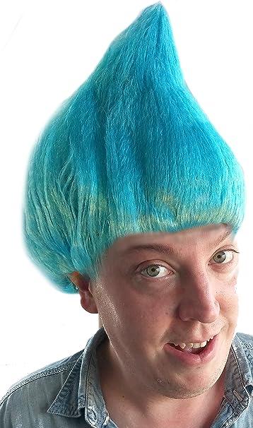 City Costume Wigs Peluca de Troll Azul Claro | Peluca de Disfraz ...