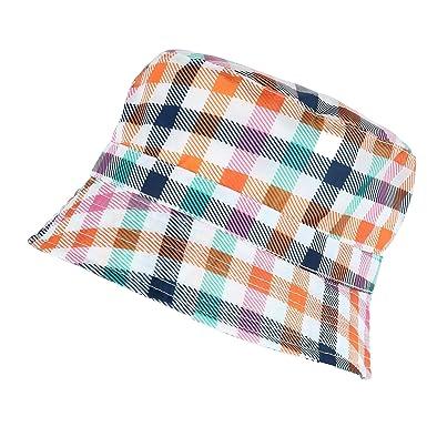 Amazon Com Applicationhelp >> Totes Women S Rainbow Gingham Rain Bucket Hat