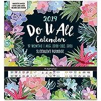 Orange Circle Studio 2019 Do It All Magnetic Wall Calendar, August 2018 - December 2019, Succulent Paradise